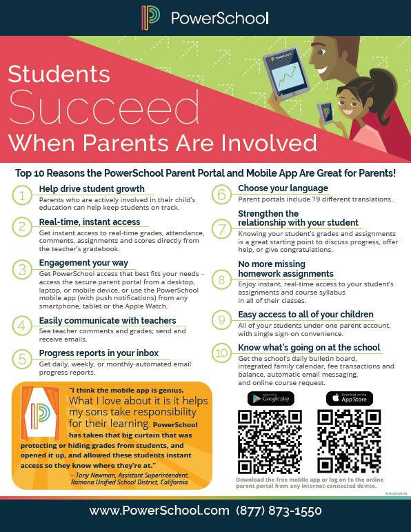 PowerSchool Mobile App Flyer