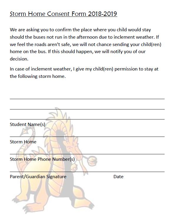 Storm Home Consent Form